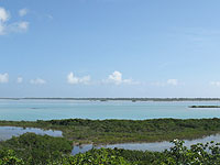 bottle creek waterfront lot for sale on North Caicos